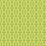 Linear seamless pattern on a yellow background Stock Photo