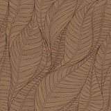 Linear seamless texture on the basis of abstract leaves. stock illustration