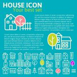 Linear set of house icons Royalty Free Stock Photography