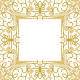 Linear simple frame with gold lines Stock Photos