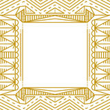Linear simple frame with gold lines Stock Image