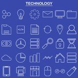 Linear technology icon for website and app Royalty Free Stock Photography