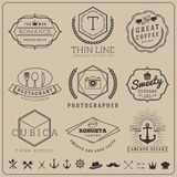 Linear thin line badge logo sets Royalty Free Stock Photography