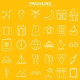 Linear traveling icon for website and app Stock Photos