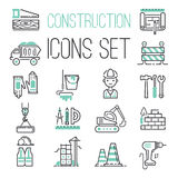 Linear under construction icons set universal web and mobile basic ui elements vector illustration. Stock Photo
