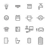 Linear utilities icons isolated on a white background Stock Photography
