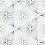 Linear vector pattern, repeating abstract floral, gray line of leaf or flower, floral. graphic clean design for fabric, event Royalty Free Stock Image