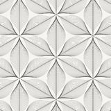 Linear vector pattern, repeating abstract leaves, gray line of leaf or flower, floral. graphic clean design for fabric, event. Wallpaper etc. pattern is on Royalty Free Stock Photography