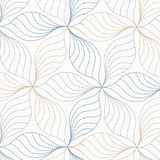 Linear vector pattern, repeating abstract leaves, gray line of leaf or flower, floral. graphic clean design for fabric. Event, wallpaper etc. pattern is on stock illustration