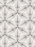 Linear vector pattern, repeating abstract leaves, gray line of leaf or flower, floral. graphic clean design for fabric Stock Image