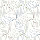 Linear vector pattern, repeating abstract leaves, line of leaf or flower, floral. graphic clean design for fabric, event. Wallpaper etc. pattern is on swatches stock illustration