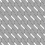 Linear vector pattern repeating braiding lines styles pattern made from a quarter linear of circle. Royalty Free Stock Photos