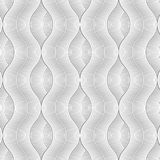 Linear vector pattern, repeating curve wave line hide beyond each. Pattern is on swatches panel Stock Image