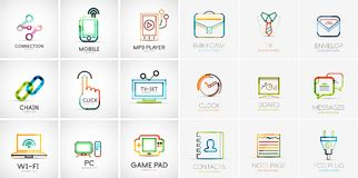 Linear web icons Royalty Free Stock Photography