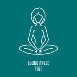 Linear yoga icon Royalty Free Stock Photos