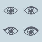 Lineare Augenikone Konzept der Ansicht Vektor Stockfoto