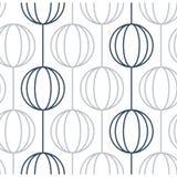 Lineare Ballgirlanden auf weißem, minimalistic Designmuster und Hintergrund stock abbildung