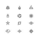 Lineare geometrische Logoelemente für Geschäft Lizenzfreie Stockfotografie