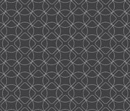 Lineare gerundete Diamantform und -kreis Stockbild