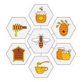Lineare Honigikonen lizenzfreie abbildung