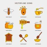 Lineare Honigikonen vektor abbildung