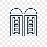 Lineare Ikone des Silokonzept-Vektors lokalisiert auf transparentem backgrou stock abbildung