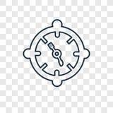Lineare Ikone des Vorbereitungskonzept-Vektors lokalisiert auf transparentem b lizenzfreie abbildung