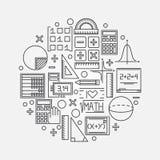 Lineare Illustration Mathe lizenzfreie abbildung