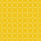 Lineare Kunst bearbeitet nahtloses Muster des flachen Vektorgelbs Stockbild