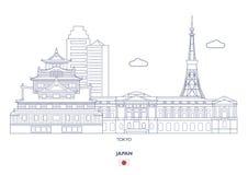 Lineare Stadt-Skyline Tokyos, Japan Stockfotos