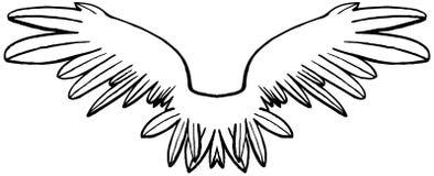 Lineare symmetrische Schwarzweiss-Flügel Lizenzfreie Stockfotografie