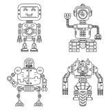 Linearer Artsatz der Roboter Stockfoto