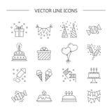 Linearer Ikonengeburtstag vektor abbildung