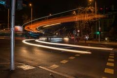 Linearer Lichteffekt eines Stadtbusses part2 Lizenzfreie Stockbilder