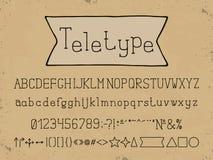 Lineares Design des Alphabetes Schriftart Buchstaben, Zahlen, Interpunktionszeichen Gussvektortypographie Hand gezeichnet EPS10 vektor abbildung