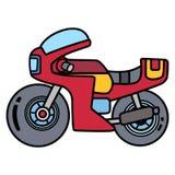 Lineares einfaches Motorrad getrennt auf Leerraum stockfotos