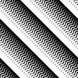 Lineares geometrisches nahtloses allgemeinhinmuster mit Übergang Lizenzfreie Stockfotografie