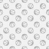 Lineares Muster des Basketballs Stockbild
