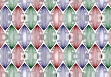 Lineares Muster des Vektors Abstrakter stilvoller Hintergrund mit stilisiertem Lizenzfreies Stockbild