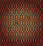 Lineares nahtloses geometrisches Muster. Dekorativer Netzhintergrund. Korbwaren lizenzfreie abbildung