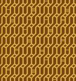 Lineares nahtloses geometrisches Muster. Dekorativer Netzhintergrund. Korbwaren stock abbildung