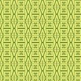 Lineares nahtloses Muster auf einem gelben Hintergrund Stockfoto