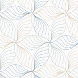 Lineares Vektormuster, abstrakte Blätter, graue Linie des Blattes oder Blume wiederholend, mit Blumen grafisch säubern Sie Design stock abbildung