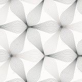 Lineares Vektormuster, abstrakte Blumenblätter, graue Linie des Blattes oder Blume wiederholend, mit Blumen grafisch säubern Sie  stock abbildung