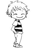 Lineart мальчика аниме стоковое изображение rf