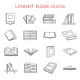 Lineart Book Icons Symbols Logos Set Template for Web Isometric Isolated Vector Illustration Royalty Free Stock Photo