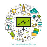 LineArt Concept - Successful Business Startup Stock Photos