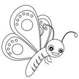 Lineart de la mariposa Fotos de archivo
