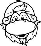 Lineart de singe Photographie stock