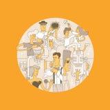 Lineart della banda di Mucical royalty illustrazione gratis